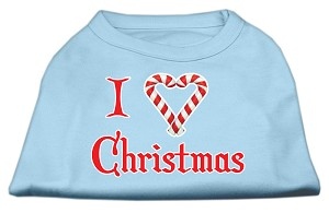 I Heart Christmas Screen Print Shirt Baby Blue Med (12)