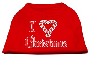 I Heart Christmas Screen Print Shirt Red XXXL (20)