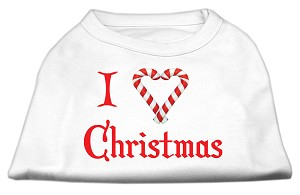 I Heart Christmas Screen Print Shirt White XL (16)