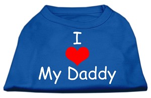 I Love My Daddy Screen Print Shirts Blue XXXL (20)