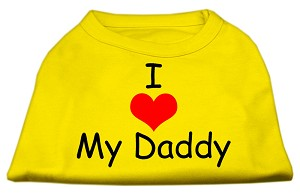 I Love My Daddy Screen Print Shirts Yellow Med (12)