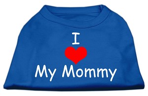 I Love My Mommy Screen Print Shirts Blue XS (8)
