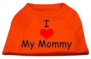 I Love My Mommy Screen Print Shirts Orange Lg (14)