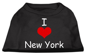 I Love New York Screen Print Shirts Black XL (16)
