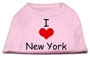 I Love New York Screen Print Shirts Pink Lg (14)