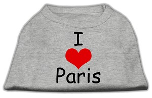I Love Paris Screen Print Shirts Grey XL (16)