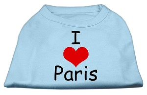I Love Paris Screen Print Shirts Baby Blue XXXL (20)