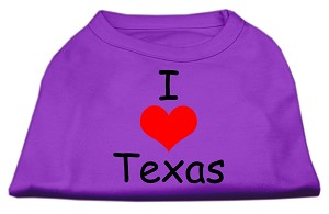 I Love Texas Screen Print Shirts Purple XXXL (20)
