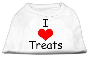 I Love Treats Screen Print Shirts White XS (8)