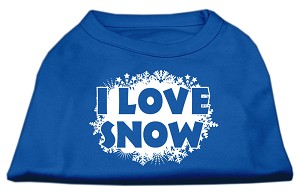 I Love Snow Screenprint Shirts Blue XS (8)