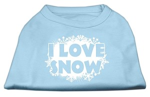 I Love Snow Screenprint Shirts Baby Blue XL (16)