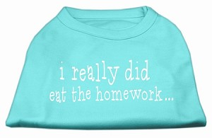 I really did eat the Homework Screen Print Shirt Aqua XL (16)