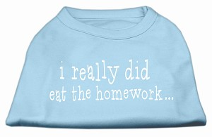 I really did eat the Homework Screen Print Shirt Baby Blue XXL (18)