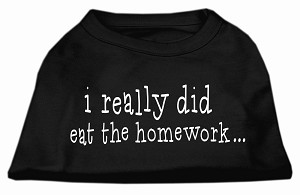 I really did eat the Homework Screen Print Shirt Black S (10)