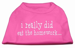 I really did eat the Homework Screen Print Shirt Bright Pink XL (16)