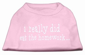 I really did eat the Homework Screen Print Shirt Light Pink XS (8)
