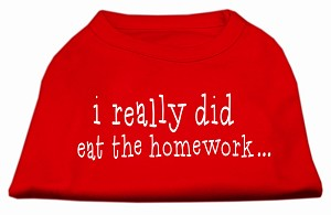 I really did eat the Homework Screen Print Shirt Red XXL (18)