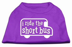I ride the short bus Screen Print Shirt Purple XXL (18)