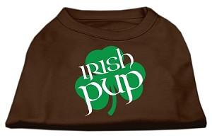 Irish Pup Screen Print Shirt Brown XS (8)