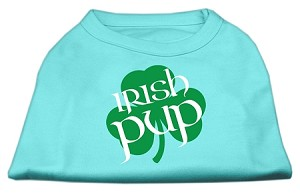 Irish Pup Screen Print Shirt Aqua XL (16)