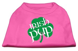 Irish Pup Screen Print Shirt Bright Pink XL (16)