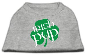 Irish Pup Screen Print Shirt Grey XL (16)