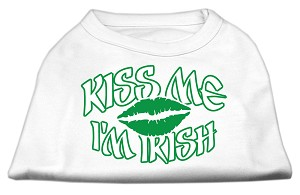 Kiss Me I'm Irish Screen Print Shirt White XXXL (20)