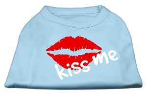Kiss Me Screen Print Shirt Baby Blue Sm (10)