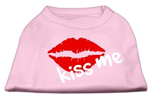 Kiss Me Screen Print Shirt Light Pink Sm (10)
