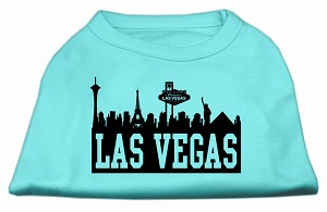 Las Vegas Skyline Screen Print Shirt Aqua XL (16)