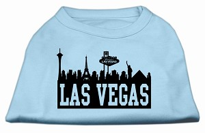 Las Vegas Skyline Screen Print Shirt Baby Blue Lg (14)