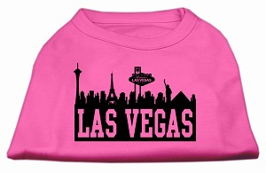 Las Vegas Skyline Screen Print Shirt Bright Pink XS (8)
