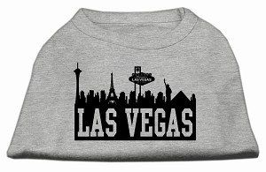 Las Vegas Skyline Screen Print Shirt Grey Lg (14)