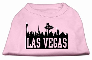 Las Vegas Skyline Screen Print Shirt Light Pink XXXL (20)