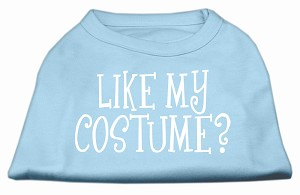 Like my costume? Screen Print Shirt Baby Blue S (10)