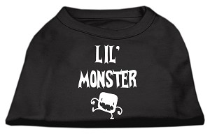 Lil Monster Screen Print Shirts Black Lg (14)