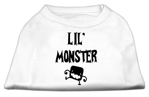 Lil Monster Screen Print Shirts White XXXL (20)