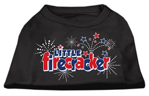 Little Firecracker Screen Print Shirts Black XXL (18)