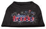 Little Firecracker Screen Print Shirts Black XXXL(20)