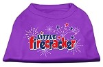 Little Firecracker Screen Print Shirts Purple XXXL(20)