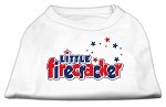 Little Firecracker Screen Print Shirts White XXXL(20)