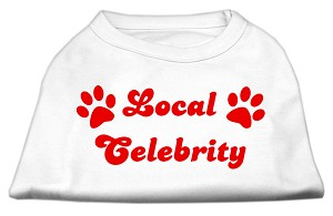 Local Celebrity Screen Print Shirts White Lg (14)