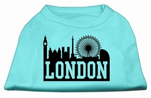 London Skyline Screen Print Shirt Aqua Sm (10)