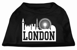 London Skyline Screen Print Shirt Black XS (8)