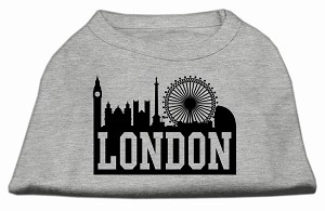 London Skyline Screen Print Shirt Grey XXXL (20)