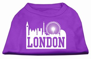 London Skyline Screen Print Shirt Purple Lg (14)