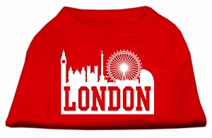 London Skyline Screen Print Shirt Red Sm (10)