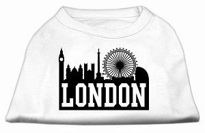 London Skyline Screen Print Shirt White Lg (14)