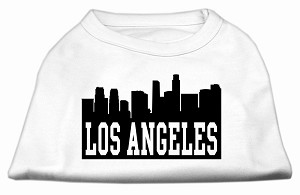 Los Angeles Skyline Screen Print Shirt White XL (16)