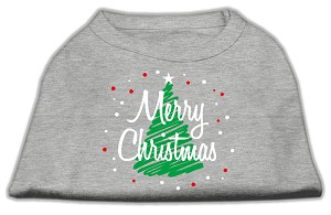 Scribbled Merry Christmas Screenprint Shirts Grey XL (16)